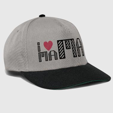 i love mum, i love my mom - Snapback Cap