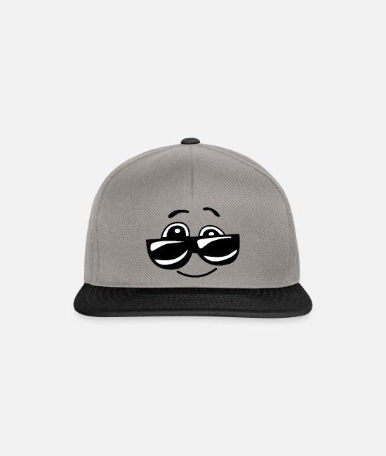 Hipster Caps & Hats - Cool Sunglasses Comic Funny - Snapback Cap graphite/black
