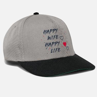 Wife Happy wife happy life shirt - Snapback Cap