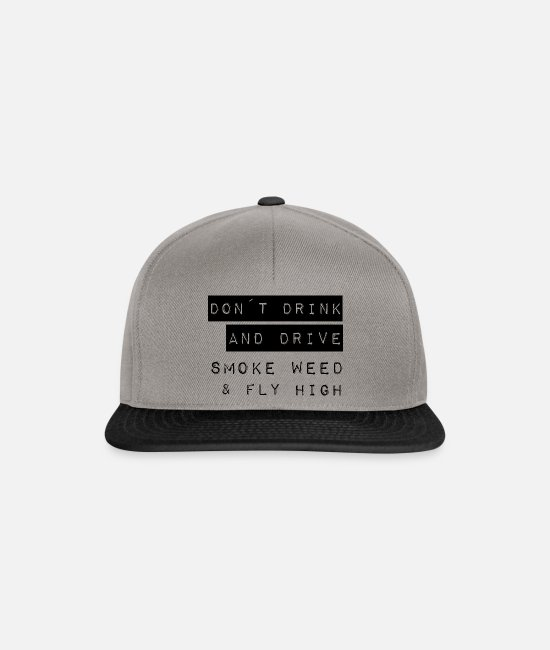 High Caps & Hats - Don't drink and drive saying English - Snapback Cap graphite/black