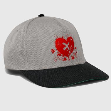 love rune for sex magic hearth blood splatter - Snapback Cap