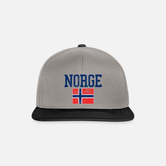 Norwegian Caps & Hats - Norway flag vintage - Snapback Cap graphite/black
