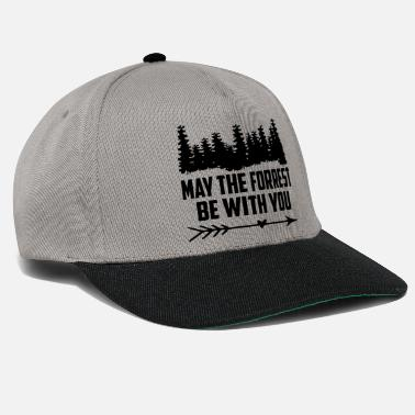 Wild may the forrest be with you quote Copy - Snapback Cap