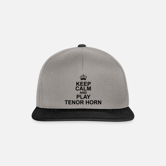Trombone Caps & Hats - Keep Calm and play Tenor Horn - Snapback Cap graphite/black