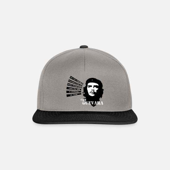 "Che Guevara Caps & Hats - Che Guevara ""If you tremble with Indignation"" - Snapback Cap graphite/black"