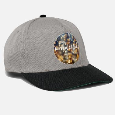 Never Give Up Stay wonderful and trust in miracles - Snapback Cap