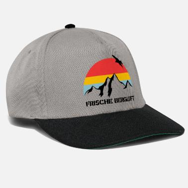 Air-cooled Fresh mountain air with mountain panorama and eagle - Snapback Cap
