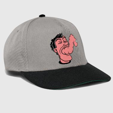 Mouth mouth eat hunger parasite alien monster wuergen lo - Snapback Cap
