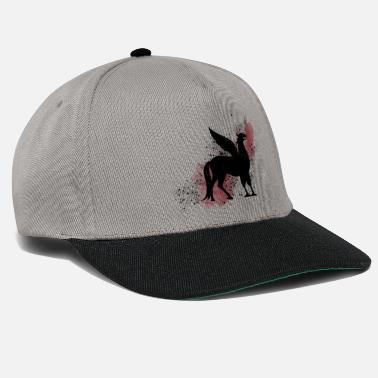 Hippogriff on a red background - Magic world - Snapback Cap