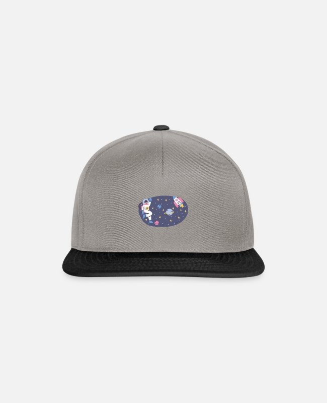 Space Caps & Hats - SPACE - Snapback Cap graphite/black