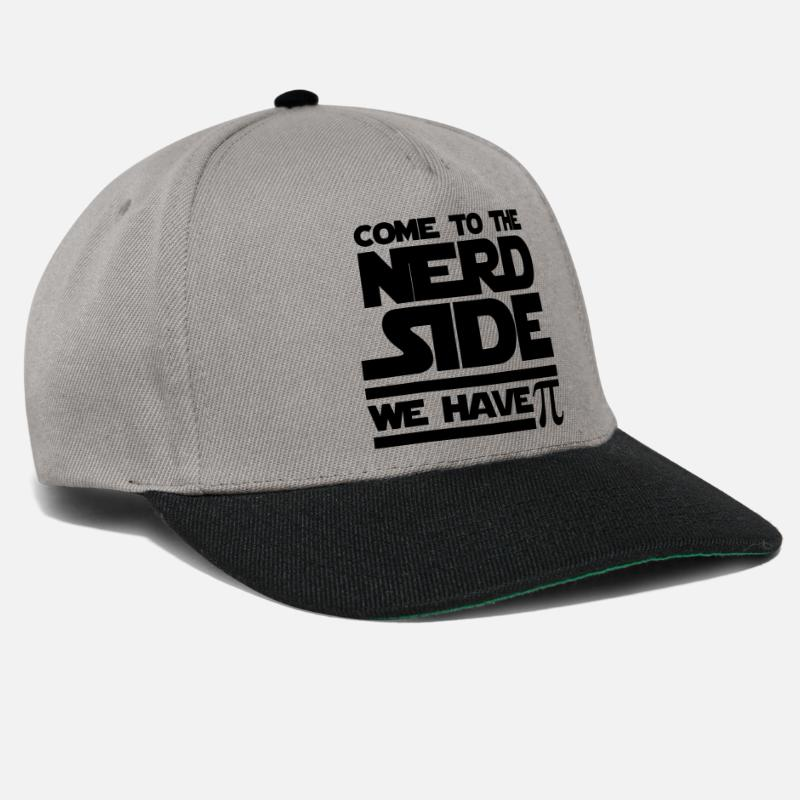 Geek Caps & Mützen - Come to the Nerd Side - Exclusive Edition - Snapback Cap Graphit/Schwarz