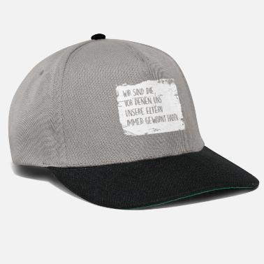 We Are The 99 Percent We are the ones our parents always tell us .. - Snapback Cap