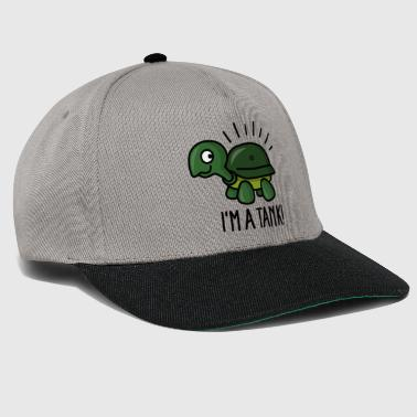 I'm a tank - funny turtle with army helmet - Snapback Cap