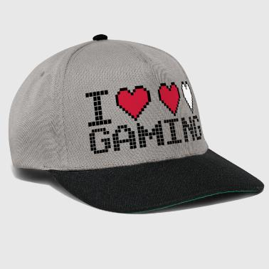 I Heart Gaming Quote - Snapback cap