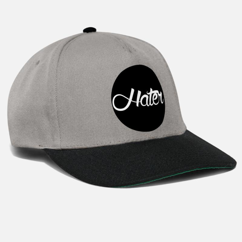 Hate Caps & Hats - Hater - Snapback Cap graphite/black