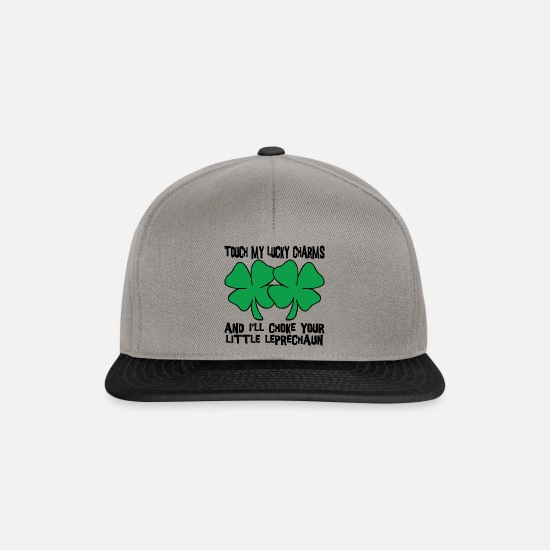 Lucky Caps & Hats - Irish My Lucky Charms Saint Patrick's Day - Snapback Cap graphite/black