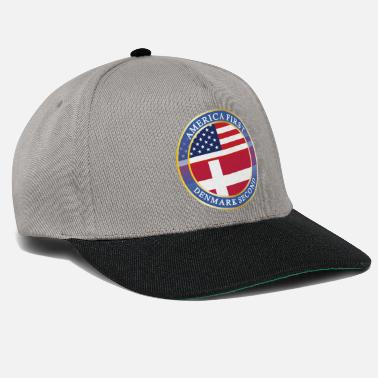 Trump Denmark AMERICA FIRST DENMARK SECOND - Snapback Cap
