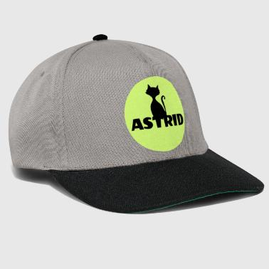 Name Day Astrid name cat full moon name day - Snapback Cap