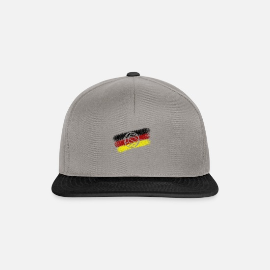 Flag Caps & Hats - Volleyball nation - Snapback Cap graphite/black