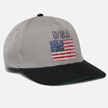 Typo USA Letters with Flag - bright shirts edition - Snapback Cap