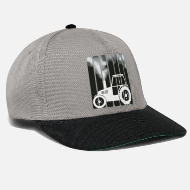 Tractor Farmer and smoking tractor - Snapback Cap