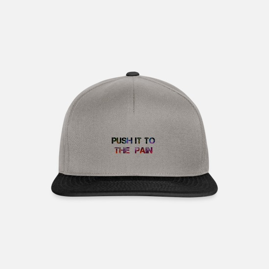 Power Caps & Hats - Push it to the pain - Snapback Cap graphite/black