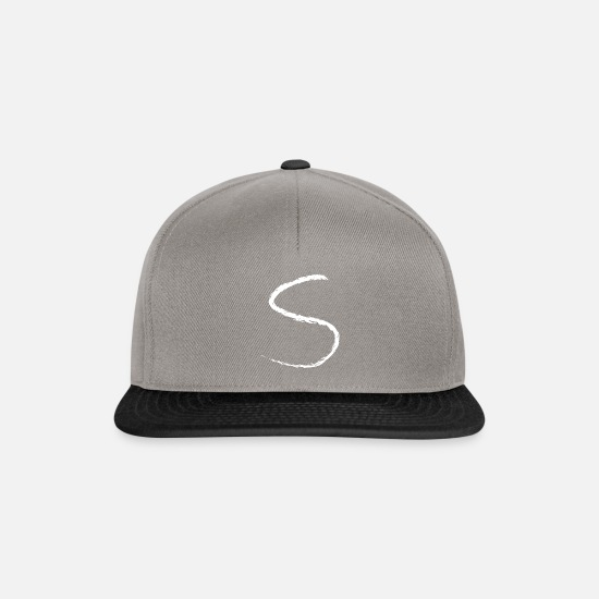 Gift Idea Caps & Hats - S as Sophia / Sofia first name letter alphabet - Snapback Cap graphite/black