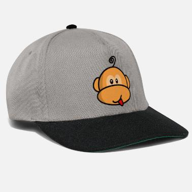 Tête De Singe young monkey with tongue out vintage - Casquette snapback