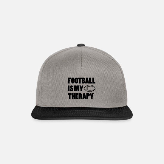 American Football Caps & Hats - Football | Touch down player coach gift idea - Snapback Cap graphite/black