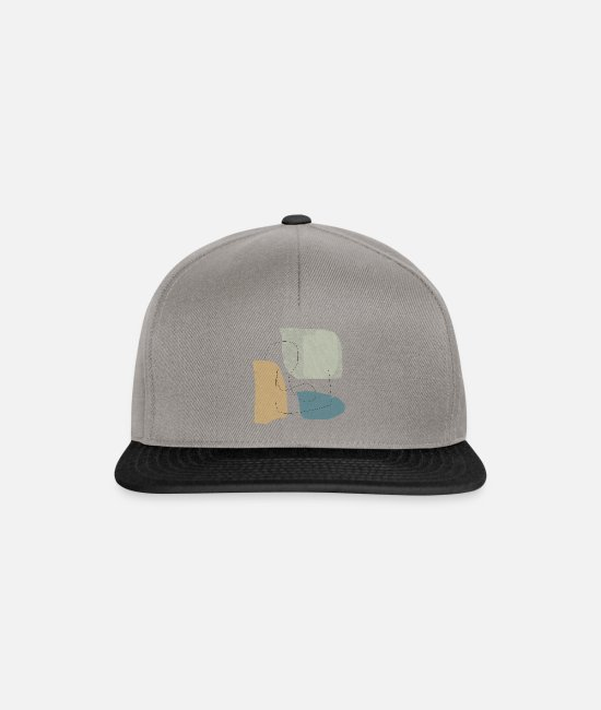 Graphics Caps & Hats - Minimalistic abstract background N3 - Snapback Cap graphite/black