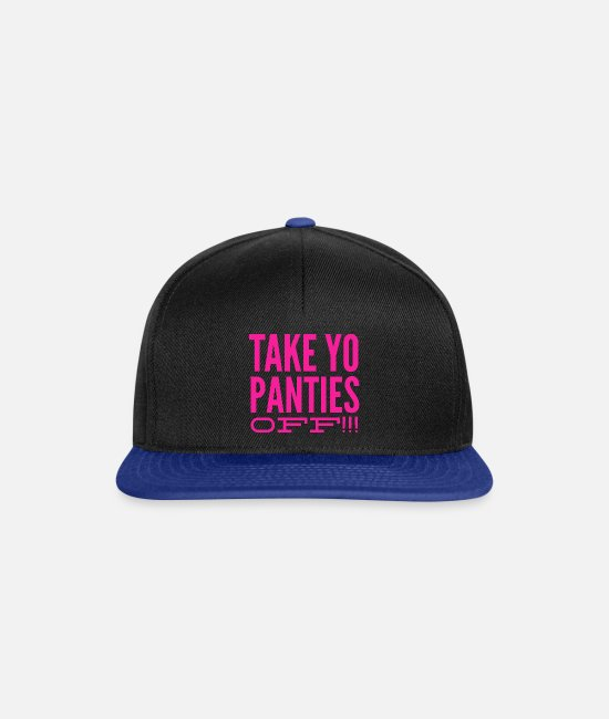 Movie Caps & Hats - take yo panties off - This is the end - present - Snapback Cap black/bright royal