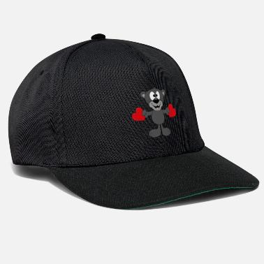 Fun Funny panther - hearts - love - love - animal - Snapback Cap