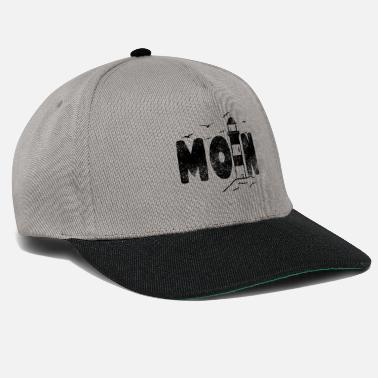 Taciturn Moin lighthouse flat german north german design - Snapback Cap