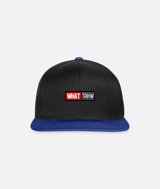 Unknown Caps & Hats - What - Snapback Cap black/bright royal