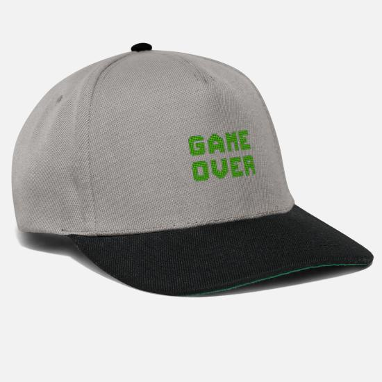 Game Over Caps & Hats - game over - Snapback Cap graphite/black