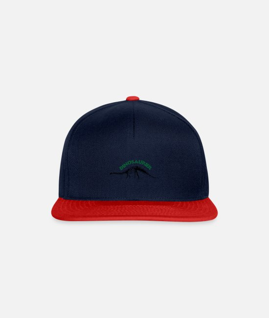 Rex Caps & Hats - Dinosaur Dino Gift Reptile Primal Story - Snapback Cap navy/red