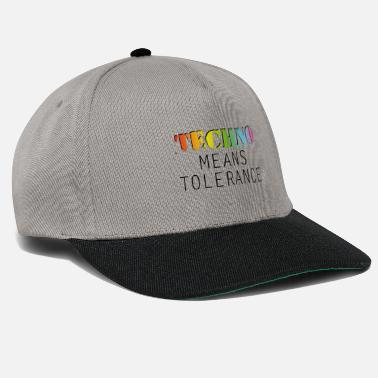 Dj Techno means tolerance - Snapback Cap