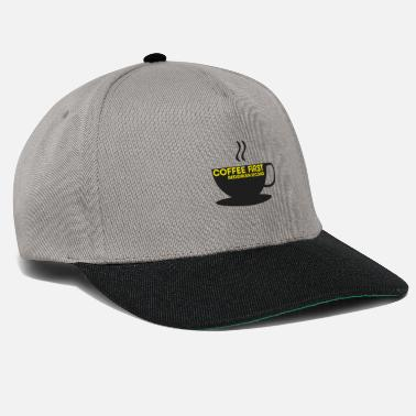 Political Coffee First Concerns Second - FDP JuLis Liberal - Snapback Cap