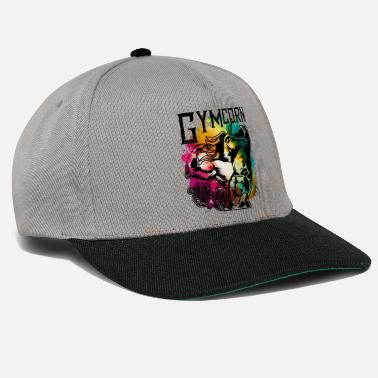 Workout Unicorn workout fitness colorful gym - Snapback Cap