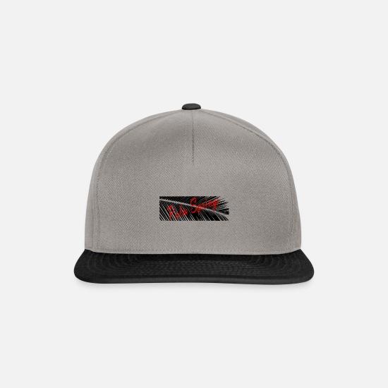 design distinctif prix de détail meilleures offres sur feuille de palmier Casquette snapback - gris graphite/noir