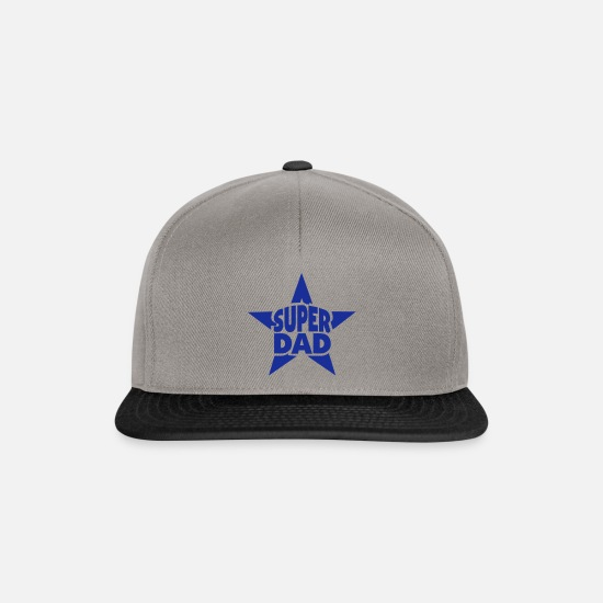 Super Caps & Hats - super dad star star - Snapback Cap graphite/black