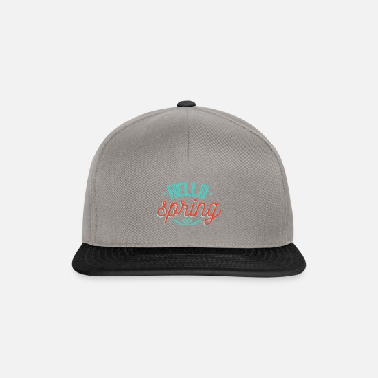 Easter Caps & Hats - Spring spring gift idea saying March April - Snapback Cap graphite/black