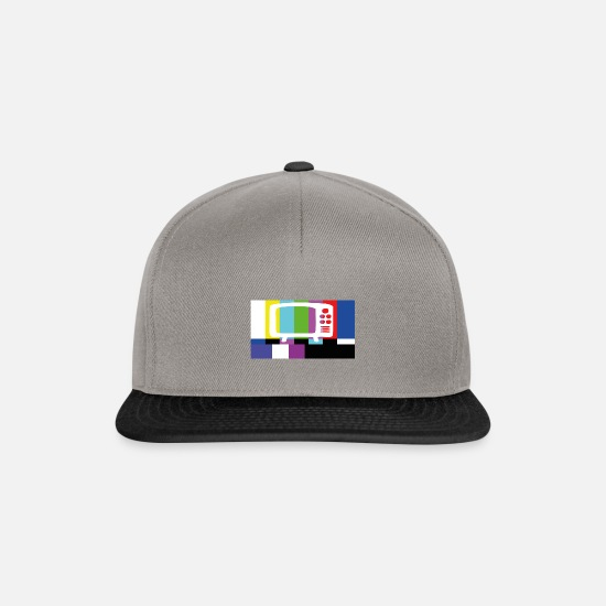 Antenna Caps & Hats - Test TV - Snapback Cap graphite/black