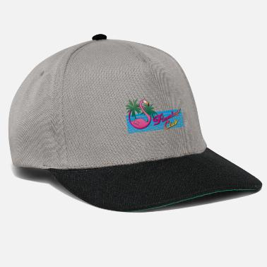 Club S 80's Miami Style: Pink Flamingo Club + Palm Trees - Snapback Cap