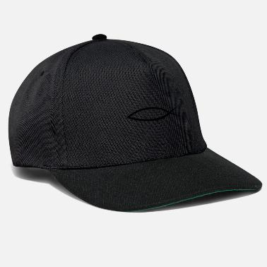 Christian Christianity fish with caption (Itchys) - Snapback Cap