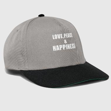 Love Peace Happiness gift - Snapback Cap