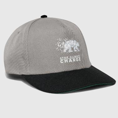The Global Warming Stop Climate Change Polar Bear - Snapback Cap