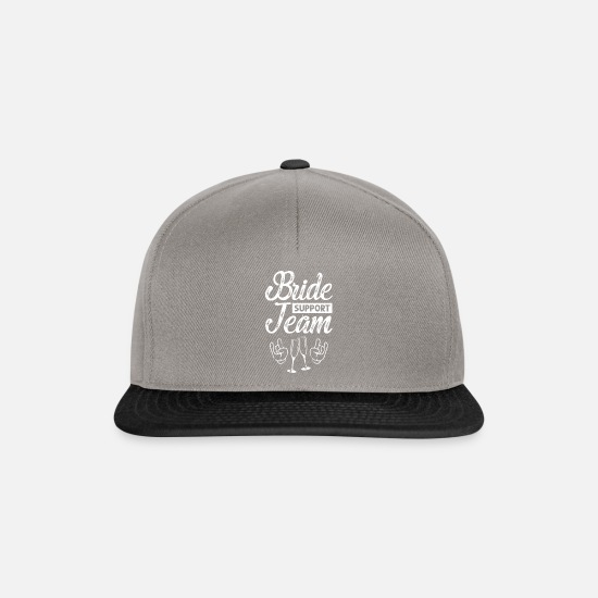 Bride Caps & Hats - bride party bachelorette party - Snapback Cap graphite/black