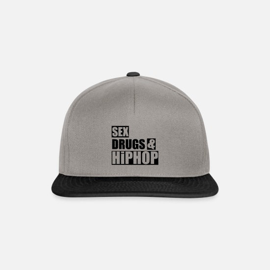 Gift Idea Caps & Hats - SEX DRUGS & HiPHOP Statement Gift Gift Idea - Snapback Cap graphite/black