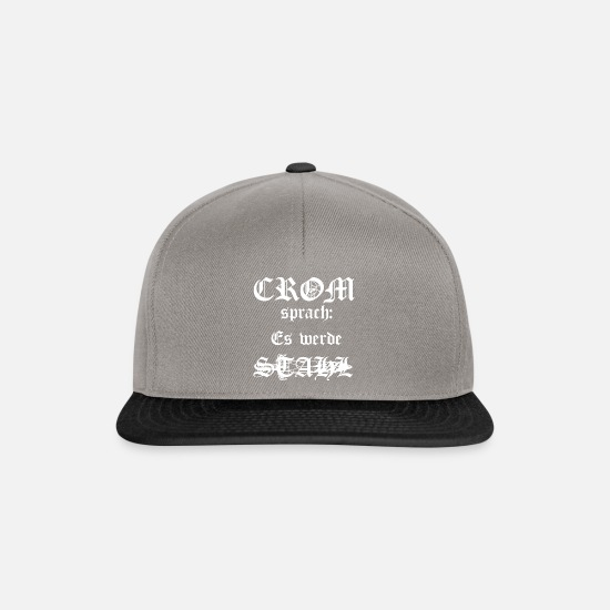 Steel Caps & Hats - Crom steel - Snapback Cap graphite/black